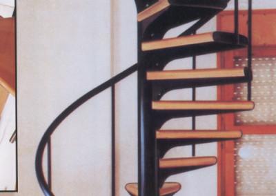 Escalera caracol Modelo M1 barandilla TC