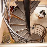 Escaleras caracol metalicas