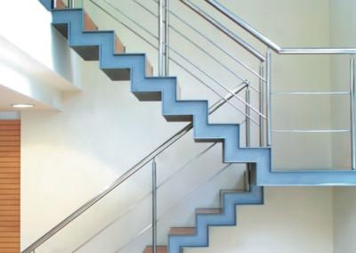 Escalera dos tramos de diseño