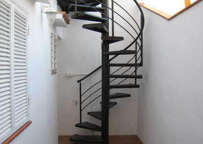Spiraal trappen van metaal Modelo M4