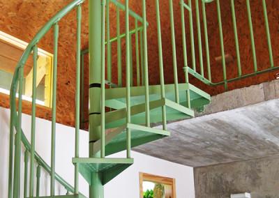 Spiraal trappen van metaal Modelo M7