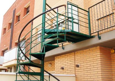 Metal spiral stairs Model M7