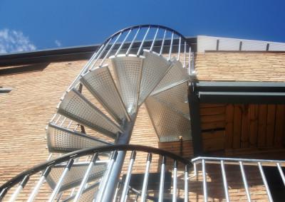 Metal spiral stairs Model M4
